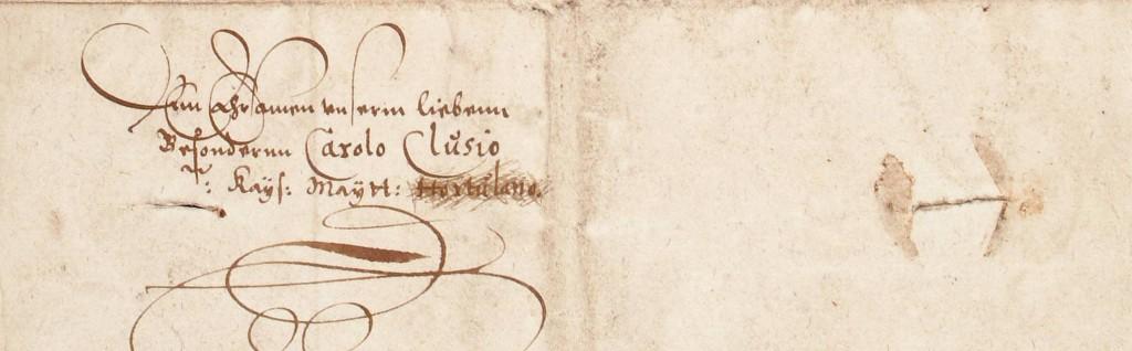 Adresserinbrief-WilhelmIVaanClusius1586-detail
