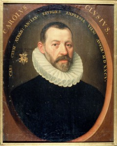 Clusius by J. de Monte, 1584 © University Libraries Leiden